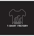 t-shirt factory negative space concept vector image