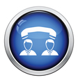 Telephone conversation icon vector image vector image