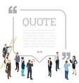 testimonials quote shape concept vector image