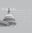 us capitol - we the people vector image