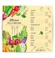 Vegetarian menu template design with vegetables