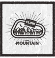 vintage adventure card climb every mountain quote vector image vector image