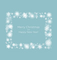 wreath with snowflakes new year and christmas vector image vector image
