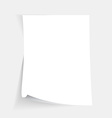 Empty folded paper sheet vector image