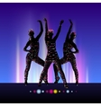 Go-Go night party background vector image