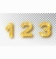 123 glitter typography design gold sparkling vector image
