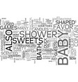 baby shower favors text word cloud concept vector image vector image