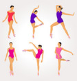 ballet dancer pose collection vector image vector image