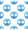 Barbell sign pattern vector image vector image
