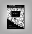 brochures book or flyer with abstract black and vector image vector image