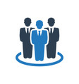 business group icon vector image vector image
