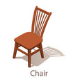 chair icon isometric style vector image vector image