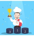 chef winner get trophy career top achievement vector image vector image