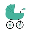 Classic Baby Carriage in Flat Design vector image