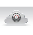 cloud icon computing 3d object eps 10 vector image