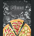 color pizza poster savoury pizza ads with 3d vector image vector image
