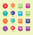 Colorful website buttons design vector image