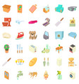 comfortable home icons set cartoon style vector image vector image