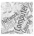 Computer Networking Training Word Cloud Concept vector image