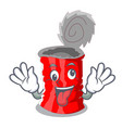 crazy tincan ribbed metal character a canned vector image vector image