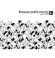 crowd business people running marathon black vector image