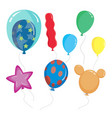cute cartoon balloon shapes color vector image vector image