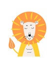 cute lion for kids apparel design vector image