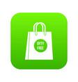 duty free shopping bag icon digital green vector image vector image