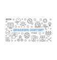 engaging content concept outline horizontal vector image vector image