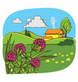 farm and field vector image