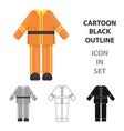 firefighter uniform icon cartoon single vector image vector image