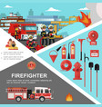 firefighting colorful template vector image vector image