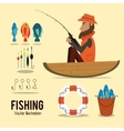 Fishing graphic design vector image vector image