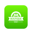 flower boutique icon green vector image