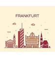 Frankfurt skyline linear style vector image vector image
