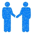 Friend Meeting Grainy Texture Icon vector image vector image