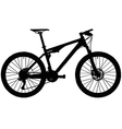 Full suspension mountain bike vector image vector image