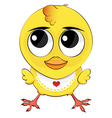 funny cartoon chicken vector image vector image