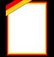 german flag border vector image vector image
