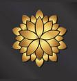 gold mandala lotus logo vector image
