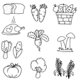 Hand draw object thanksgiving set doodles vector image vector image