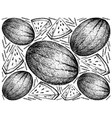 hand drawn of fresh watermelon on white background vector image vector image