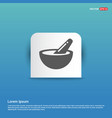 icon of bowl and chopsticks - blue sticker button vector image vector image