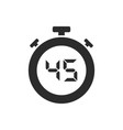 isolated stopwatch icon with forty five seconds vector image
