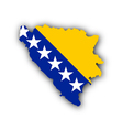 Map and flag of Bosnia and Herzegovina vector image