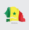 map of senegal vector image vector image