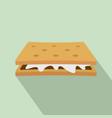 marshmallow cracker icon flat style vector image vector image