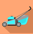 motor lawnmower icon flat style vector image vector image