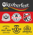 Oktoberfest badge logo and labels set vector image