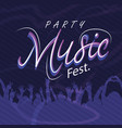 party music fest hands up people background vector image vector image
